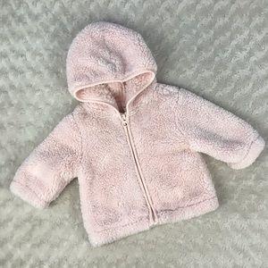 Gymboree Pale Pink Fuzzy Sherpa Jacket 3-6 Months
